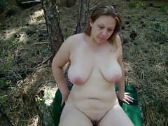 Slutty wife Plays Outdoors