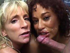 Gina DePalma and Friend Stroking Prick