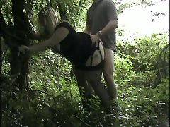 Rachel dogging in the woods