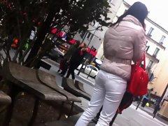 Dirty ass voyeur 05 - See through 19yo white pants