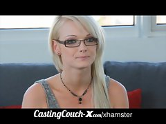 CastingCouch-X barely legal sizzling teen from Oregon tries porn