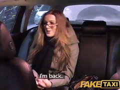 FakeTaxi Bombshell with glasses bangs for rent money