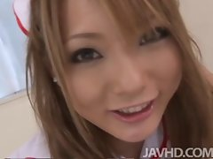 Tempting Nurse Sena Aragaki gives her patient a total physical