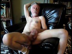 Aged Sensual MAN HAVING FUN