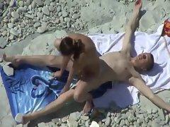 Lewd vixen banging at the beach