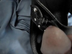 cumming on my leather thong sandals