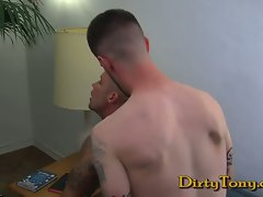 Lewd Hung Tattooed Studs Go At It Brutal