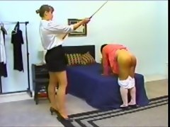 Sissy lad gets spanked and strapon banged