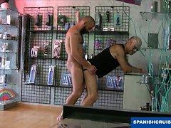 Banging at the sex shop