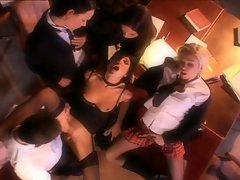 The Sensual Schoolgirls Gathered For Use Of His Prick