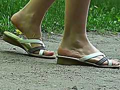 Walking in flipflops 1