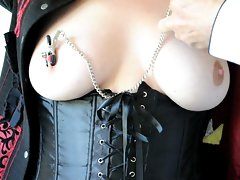Lady Sophia Corseted & Clamped.