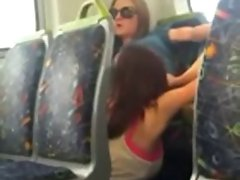 2 Models Caught Eating Twat on Public Bus