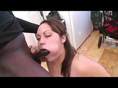Canadian Big beautiful woman Naomi Gagging on Black Pecker
