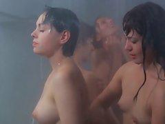 ilsa wicked warden shower ( shaggy vagina fight )