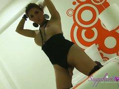 Sapphire 18 years old in ebony lingerie