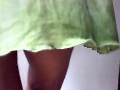 upskirt no panties at the supermarket