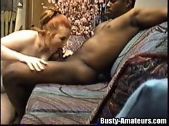 Interracial sex always makes big titted Fiona great alluring