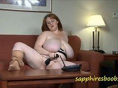 A big breasted slutty wife running up a phone bill